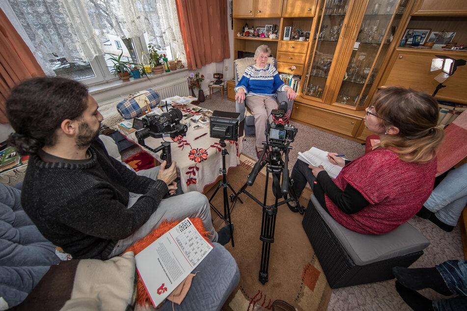 Lisbeth Scheinert (91) kann die Schreie der Verschütteten nicht vergessen.