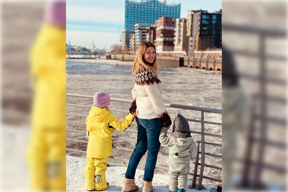 Die Vierfach-Mutter zeigt ihre Kinder nicht mehr mit ihren Gesichtern im Internet.