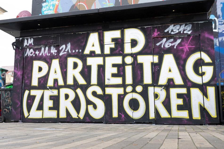 Dresden: Protest gegen Bundesparteitag der AfD in Dresden