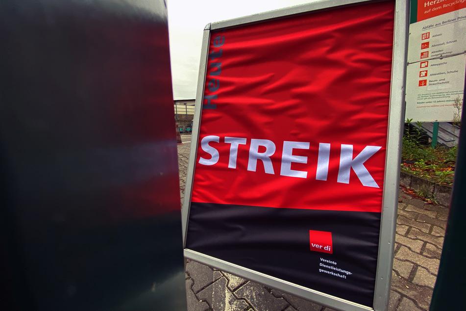 Die Gewerkschaft Verdi hat erneut zu Warnstreiks in Berlin aufgerufen (Symbolbild).