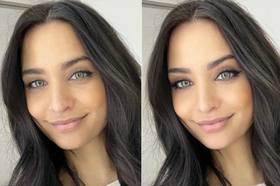 Nach diesem Selfie mit und ohne Digitalfilter erhielt Amira Pocher viele Komplimente von Frauen.