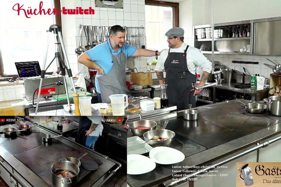 Muk Röhrl und Christoph Hauser bereiten samstags in Echtzeit live kulinarische Leckereien zu.