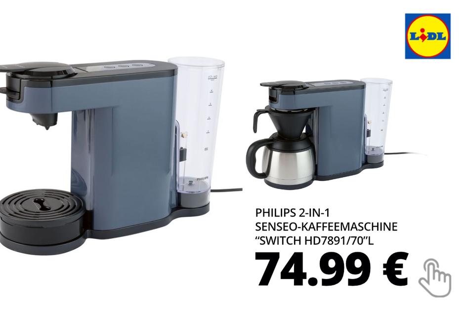 "PHILIPS 2-in-1 Senseo-Kaffeemaschine ""Switch HD7891/70"""