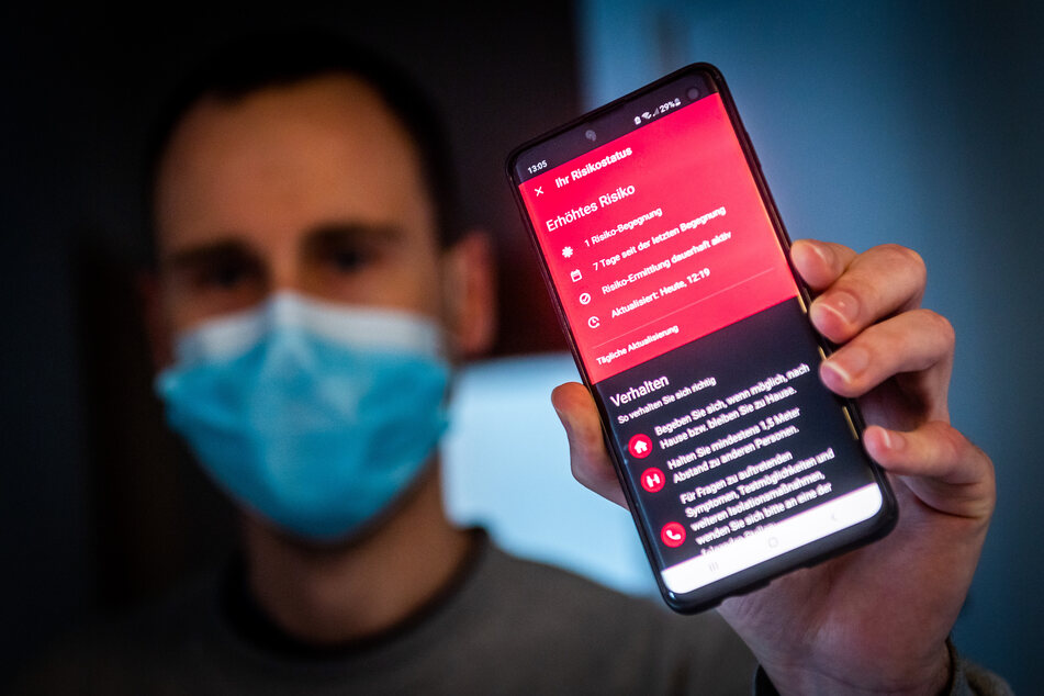 Alarmstufe Rot: Die App zeigte bei Marco Gubka eine Begegnung mit erhöhtem Risiko an.