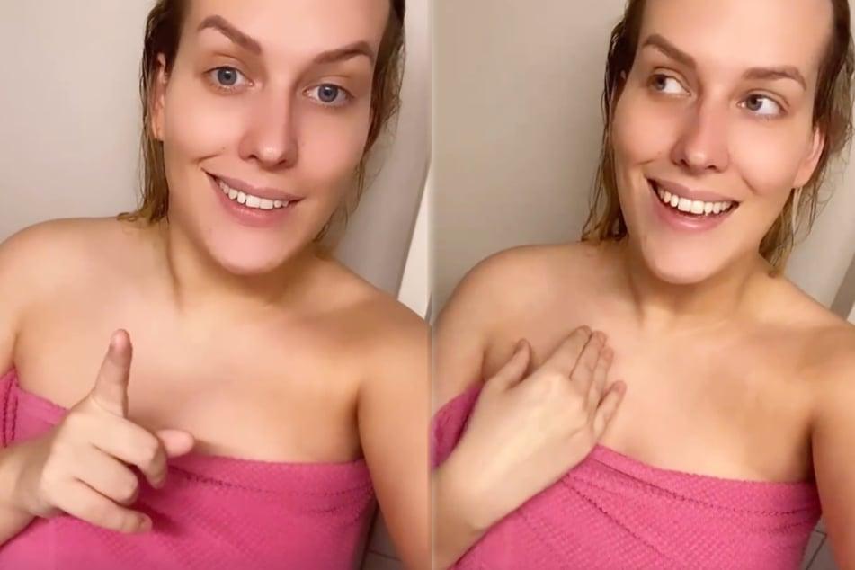 Nackt auf Instagram: Reality-Girl Josimelonie lässt Handtuch fallen