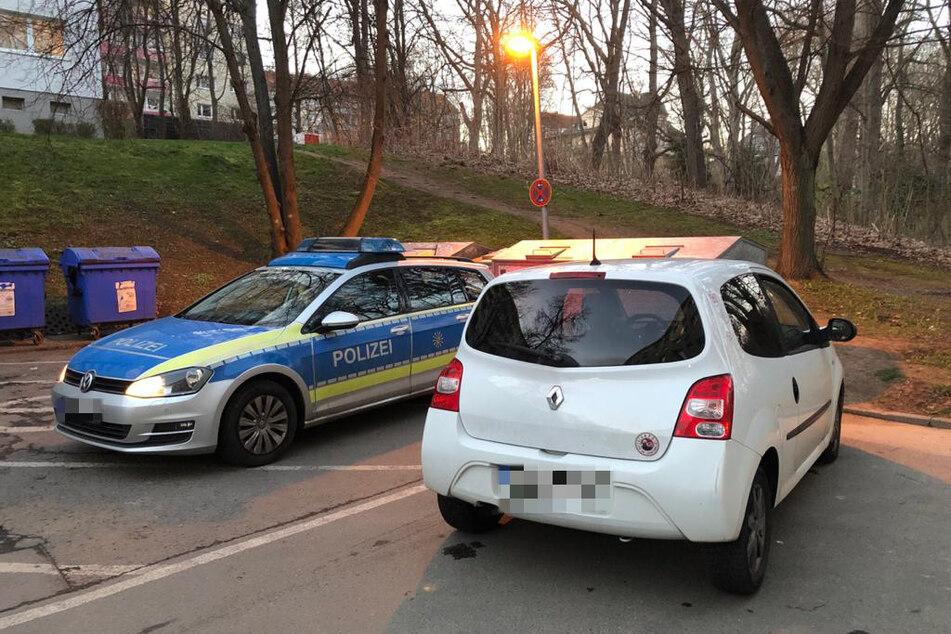 """In derGluckstraße endete eine rasante Verfolgungsjagd. Die zwei Insassen sprangen anschließend in die """"Chemnitz""""."""