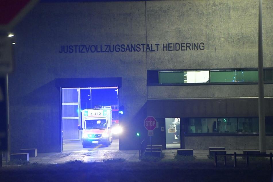 In der Justizvollzugsanstalt Heidering ist ein Feuer ausgebrochen.