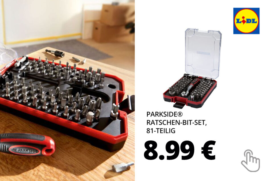 PARKSIDE® Ratschen-Bit-Set, 81-teilig
