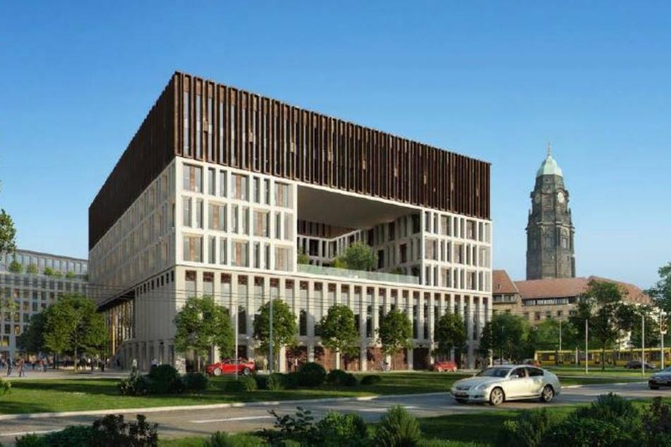 Knapp 60 Prozent der Umfrage-Teilnehmer gefällt der Entwurf mit der großen Öffnung in der Fassade.