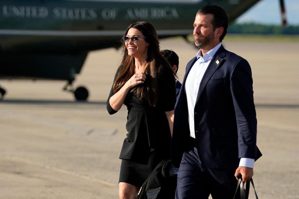 US-Präsidentensohn Donald Trump Jr. (42) und seine Freundin, die US-amerikanische Journalistin und ehemalige Staatsanwältin Kimberly Guilfoyle (51).
