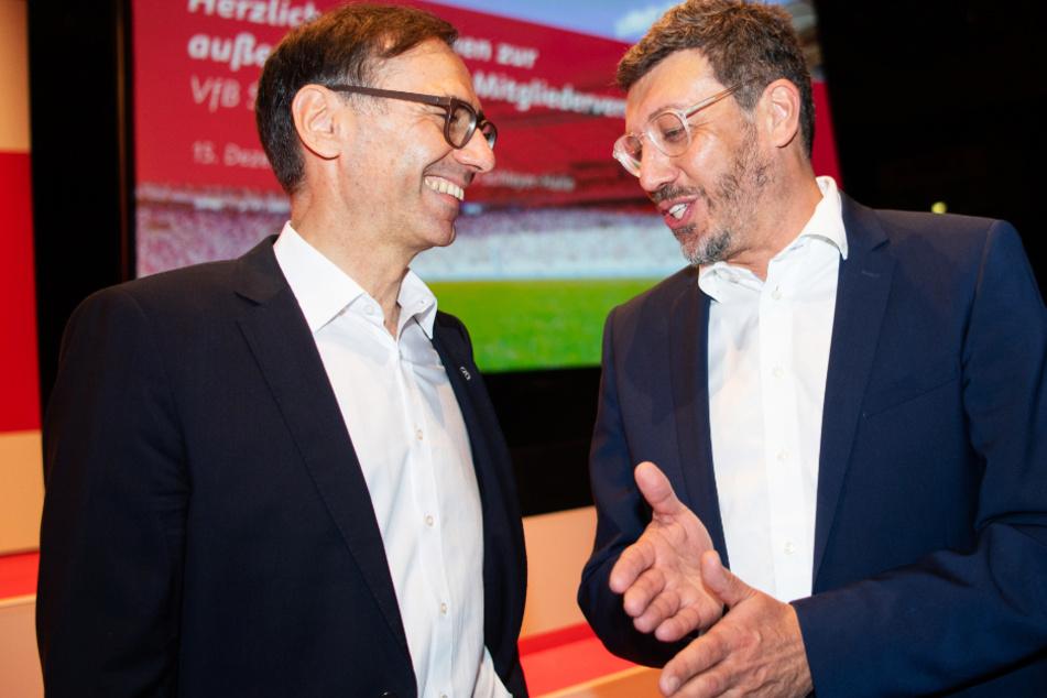 Da war zwischen ihnen noch alles in Ordnung: Bernd Gaiser (59, l.) und VfB-Präsident Claus Vogt (51) am 15. Dezember 2019.