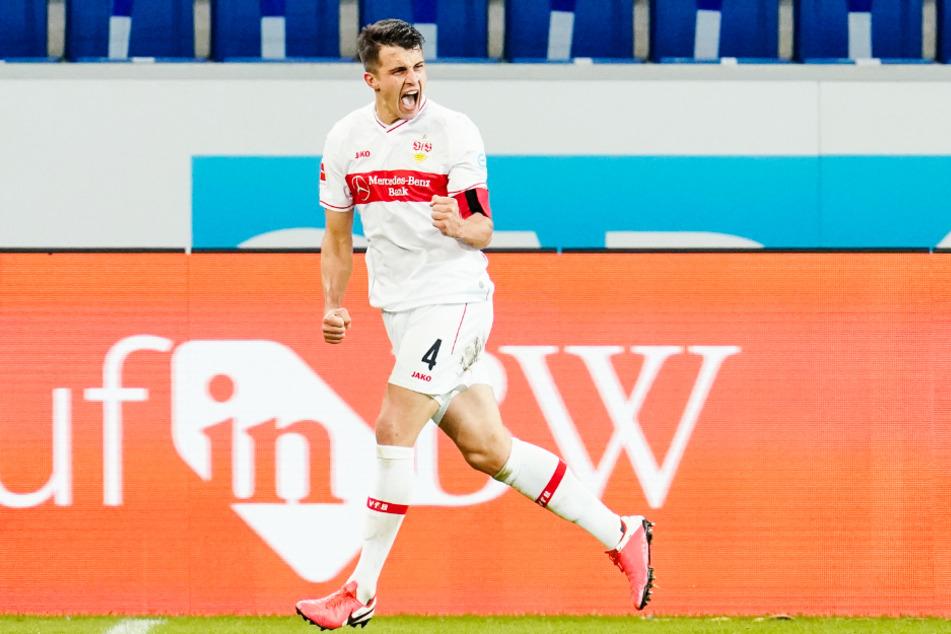 Marc Oliver Kempf (26) jubelt über seinen Treffer zum 3:3 gegen die TSG 1899 Hoffenheim am 8. Spieltag.