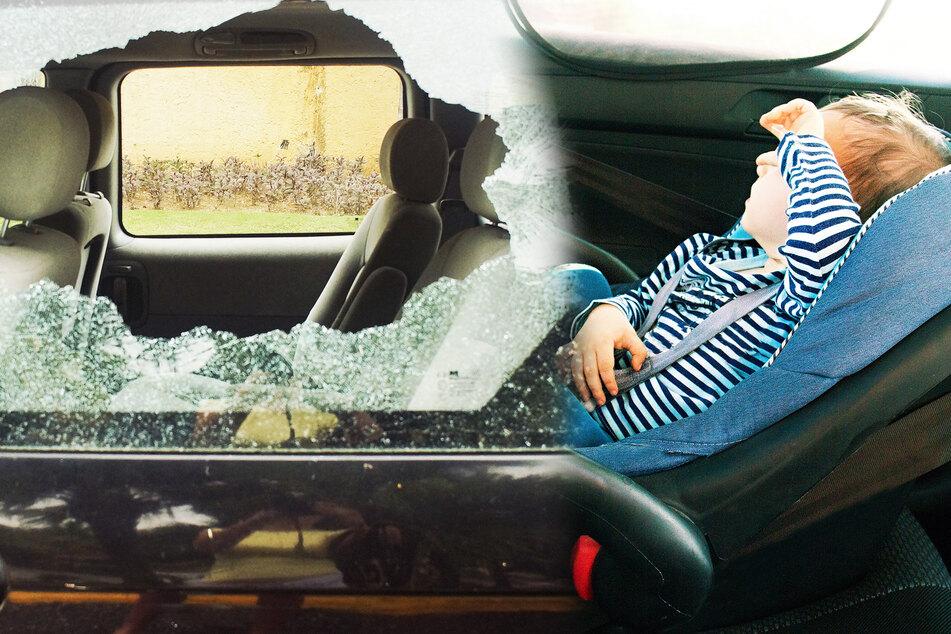 Polizei muss Autoscheibe einschlagen, um Kind (2) zu retten!