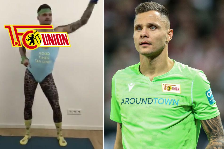 Video geht viral: So witzig hält sich Unions Gikiewicz zu Hause fit