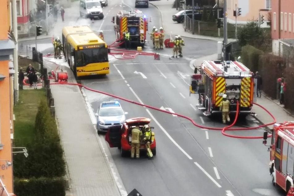 Rund 22 Feuerwehrleute löschten den Brand.