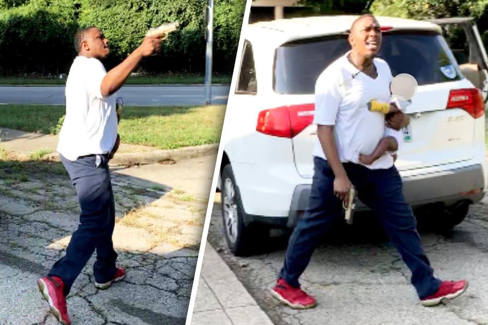 Ladon Penn (31) schoss auf drei Frauen, während er ein Baby im Arm hielt.