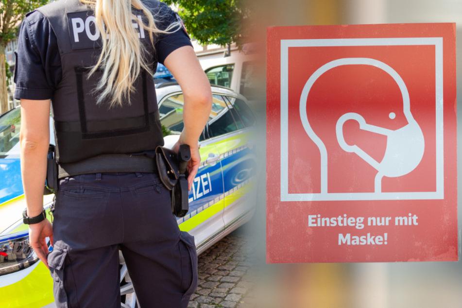 Ohne Maske unterwegs: Typ flippt aus und zieht Pistole, Polizei muss eingreifen