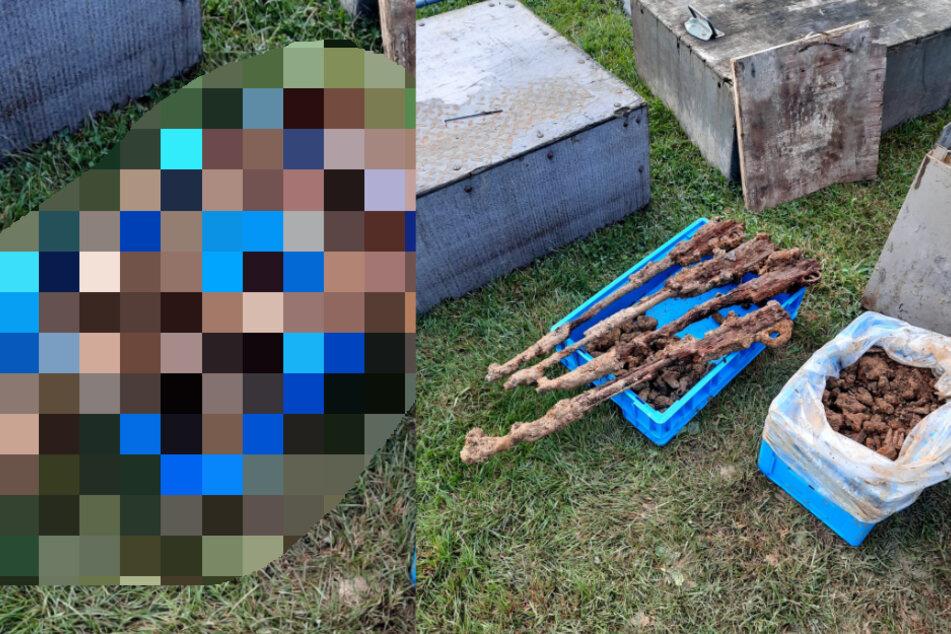 Bei Baggerarbeiten: Jede Menge Munition unter Fußballplatz gefunden