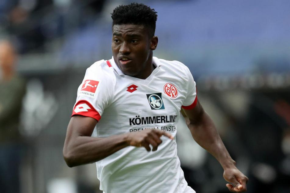 Neuzugang Taiwo Awoniyi (23), hier noch im Trikot seines Ex-Klubs 1. FSV Mainz 05, steht im Spiel gegen Borussia Mönchengladbach vor seinem möglichen Debüt für den 1. FC Union Berlin.