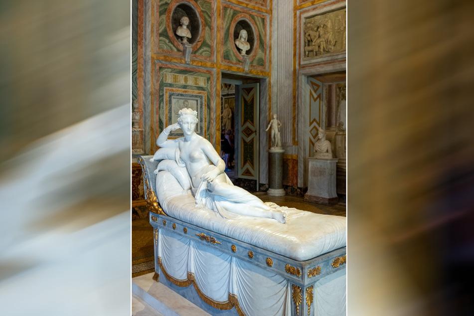 Der Napoleon-Schwester Paolina Bonaparte fehlt jetzt ein Stück vom Fuß.