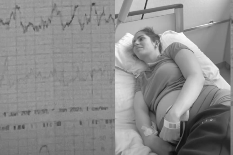 Isabel Kraus liegt in einem Krankenhausbett. Nach Komplikationen in der Schwangerschaft hatten sich die Ärzte entschieden, das Kind zu holen.