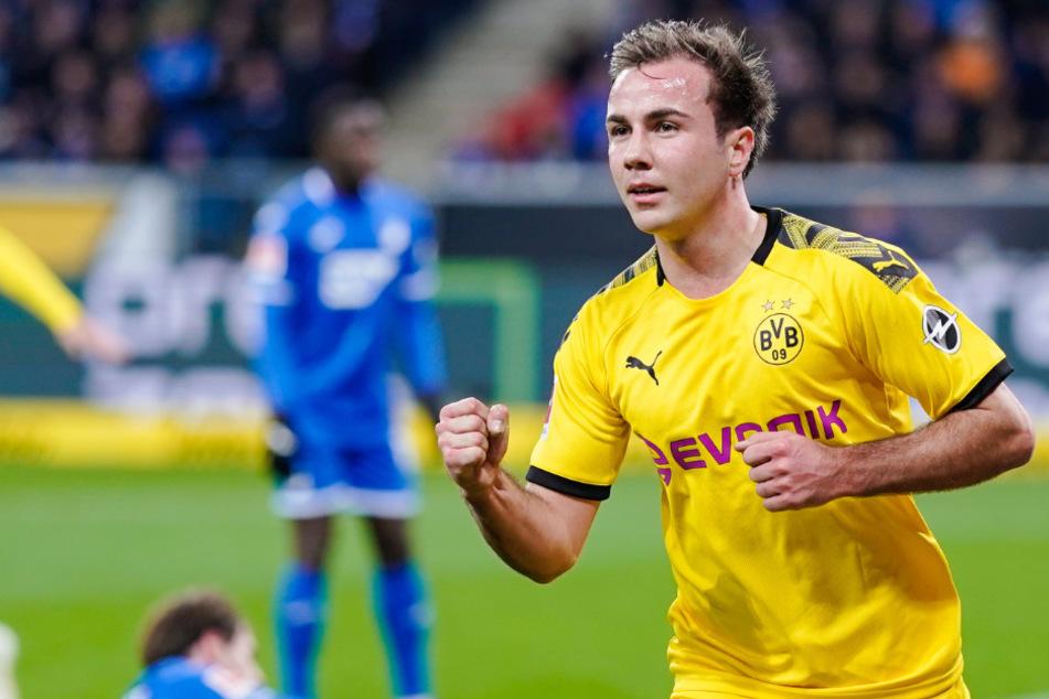 Mario Götze (28) jubelt über seinen Treffer gegen die TSG Hoffenheim.