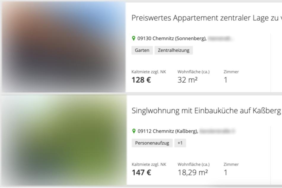 Gnadenlos günstig! In Chemnitz gibt es Altbauwohnungen für unter 150 Euro (Kaltmiete) im Monat.