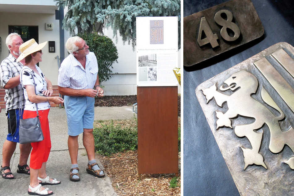 Späte Ehre für die goldene Hausnummer von Gorbitz