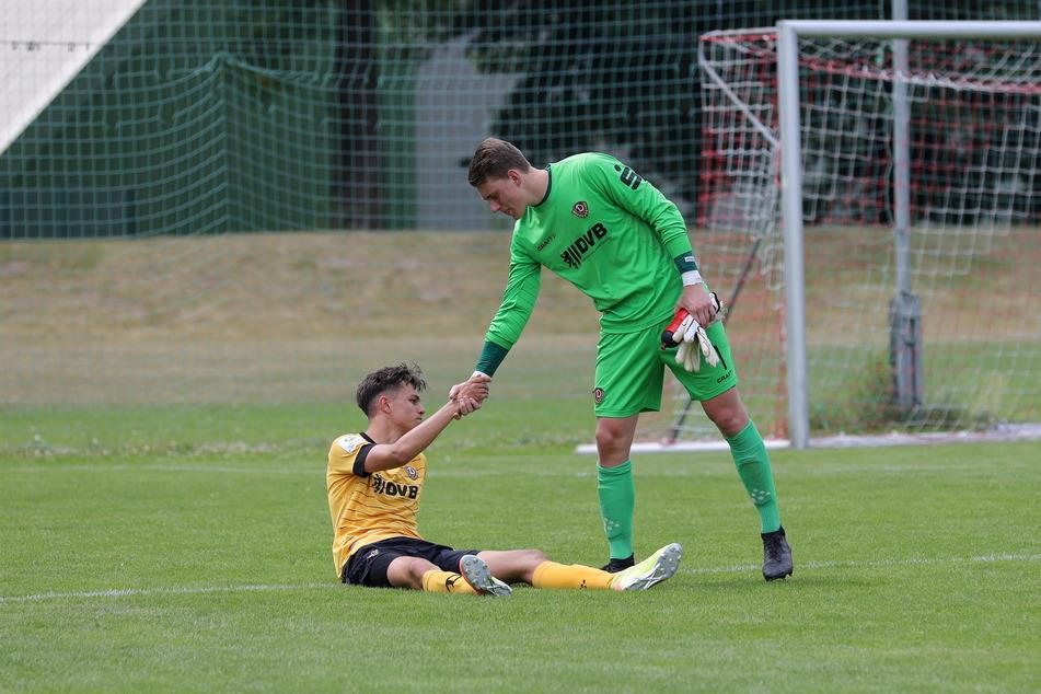 Niedergeschlagen mussten die Dynamo-Bubis den Dämpfer im Finale hinnehmen.