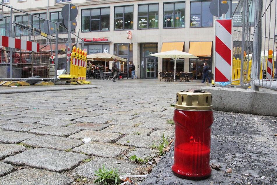 Nur eine Kerze erinnert am Tatort an den getöteten Touristen (55) aus Krefeld.