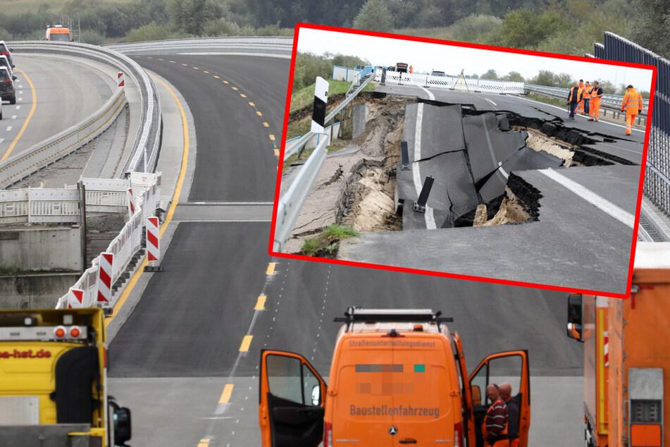 Unfall A20: Freie Fahrt auf A20: Vier Jahre nach dem Absacken kommt man wieder durch