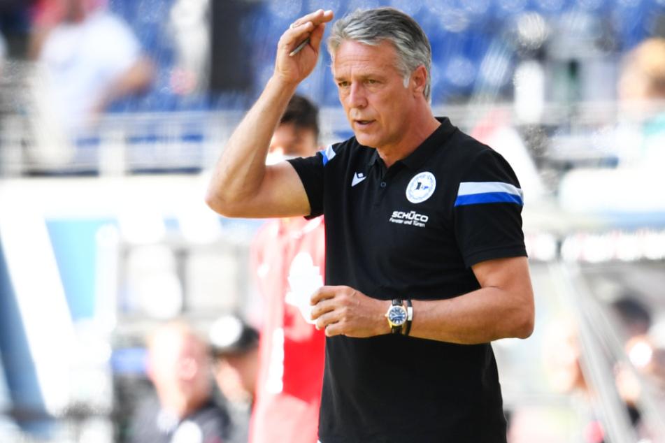 DSC-Coach Uwe Neuhaus (60) trifft mit Arminia Bielefeld auf seinen Ex-Verein Borussia Dortmund.