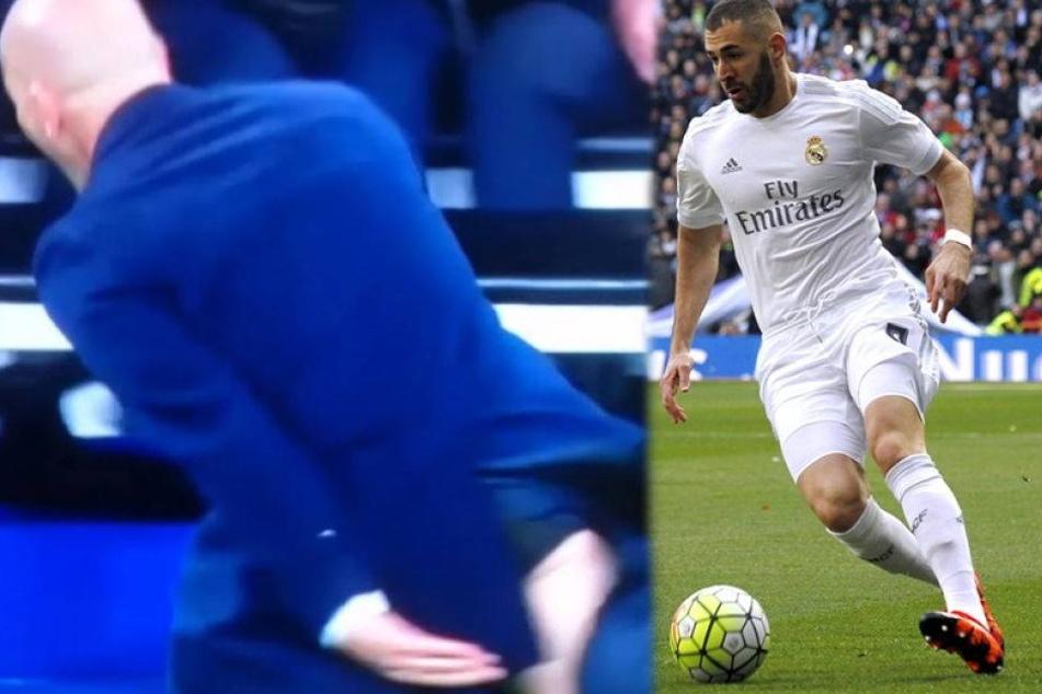 Benzema bringt Hose von Zidane zum Platzen