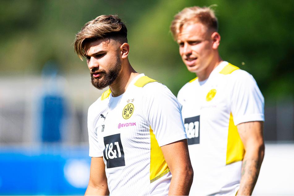 Lennard Maloney (21, r.) und Antonios Papadopoulos (21) sind im Trainingslager der Profis dabei und haben nun die ganz große Chance, dort Fuß zu fassen.