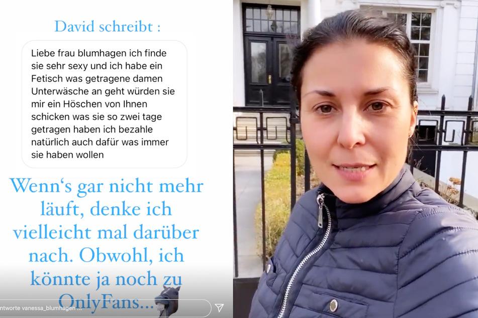 """""""Bezahle auch dafür"""": Vanessa Blumhagen teilt perverse Anfrage von Fetisch-Fan!"""