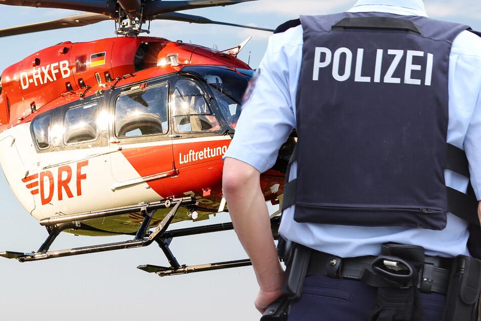 Ein Rettungshubschrauber brachte die schwer verletzte 49-Jährige auf schnellstem Weg in eine Klinik. (Symbolbild)