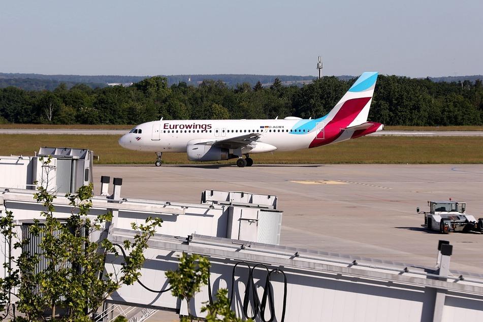 Die Maschine der Eurowings kam aus Düsseldorf.
