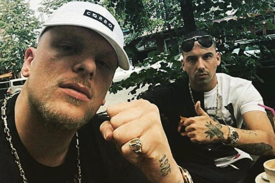 Der 187-Rapper (links) hat eine Frage an die Kanzlerin.