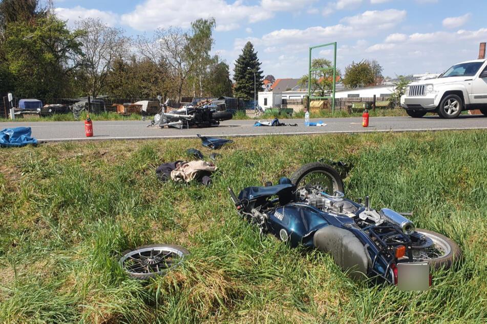 In einer Kurve kam es zum fatalen Zusammenstoß.
