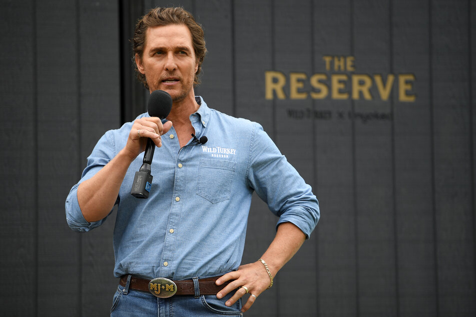 Matthew McConaughey (51) speaks at a promotional event at the Royal Botanic Gardens in Sydney in 2019.