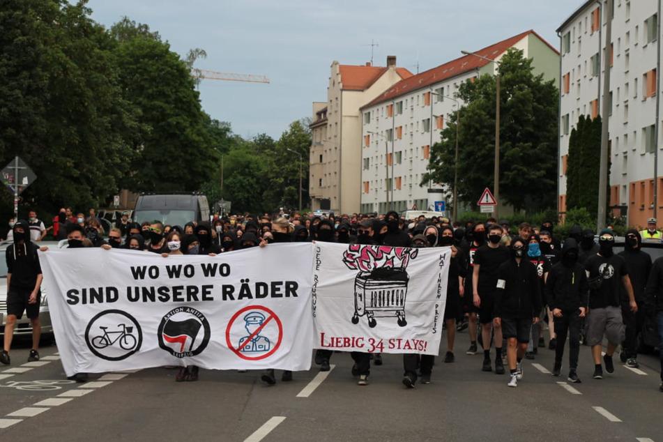 Die Demonstration zog durch den Süden Leipzigs.