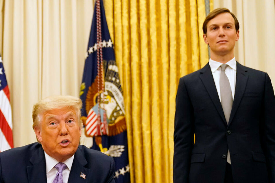 Advisor and son-in-law: Jared Kushner (r) is often seen at Trump's side.