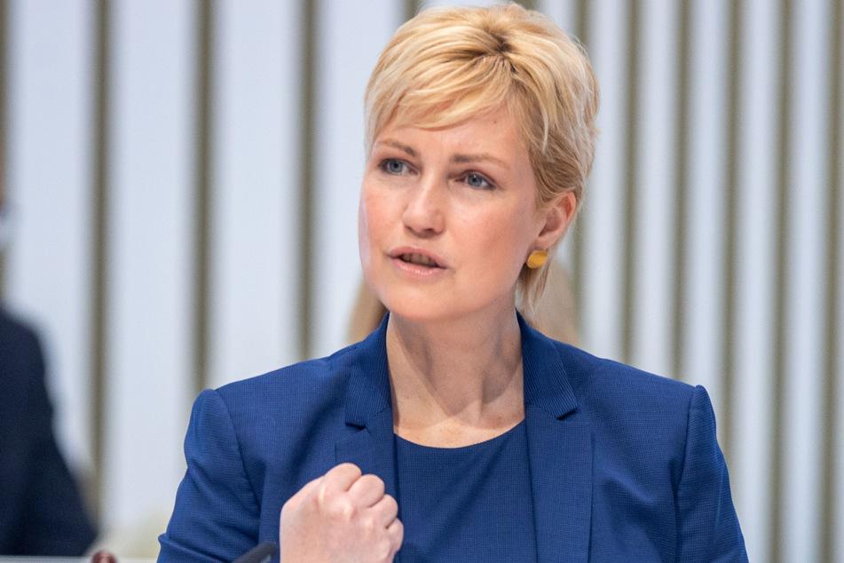 Manuela Schwesig (46, SPD), die Ministerpräsidentin von Mecklenburg-Vorpommern.