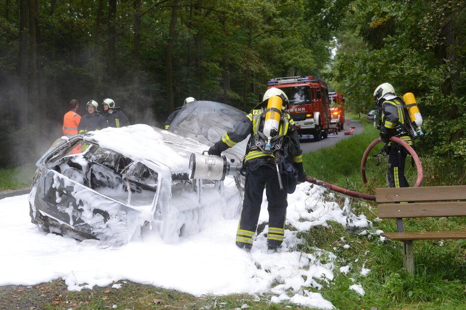 Am Dienstag brannte der Passat völlig aus.