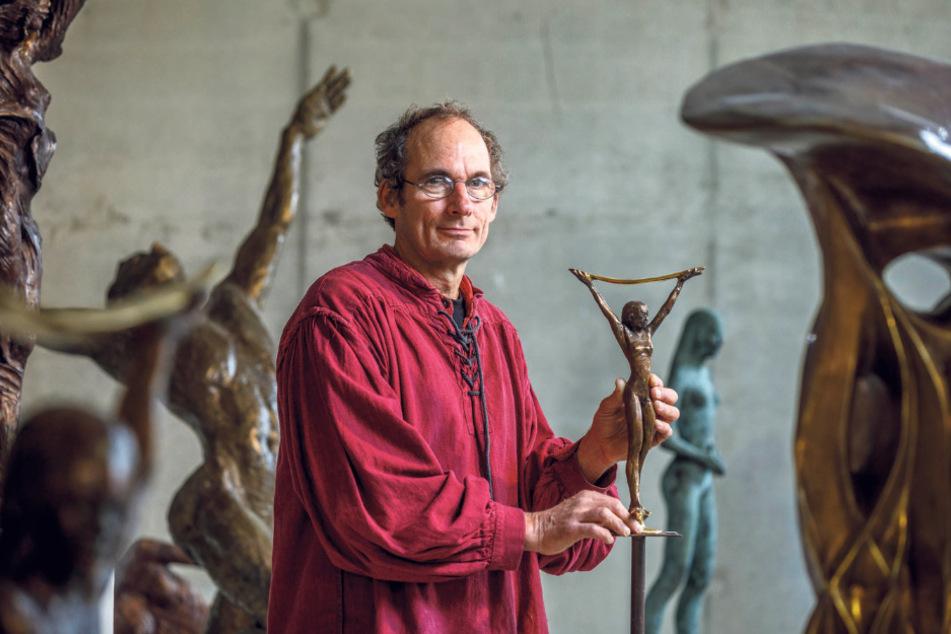 """""""Schwierig"""": Künstler Thomas Reichstein hätte einen anderen Slogan gewählt."""