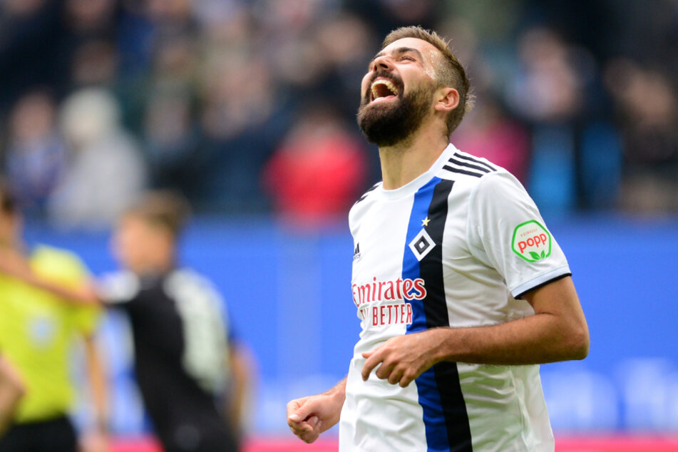 Lukas Hinterseer (29) hat gut lachen: Er verlässt den HSV.