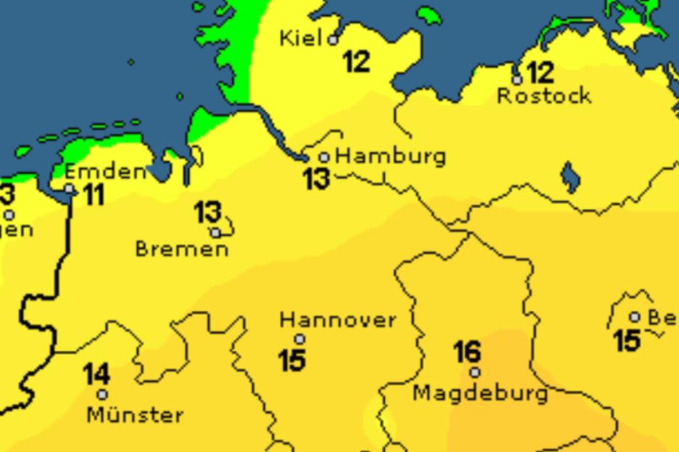 Die Temperaturen im Norden bleiben mild.