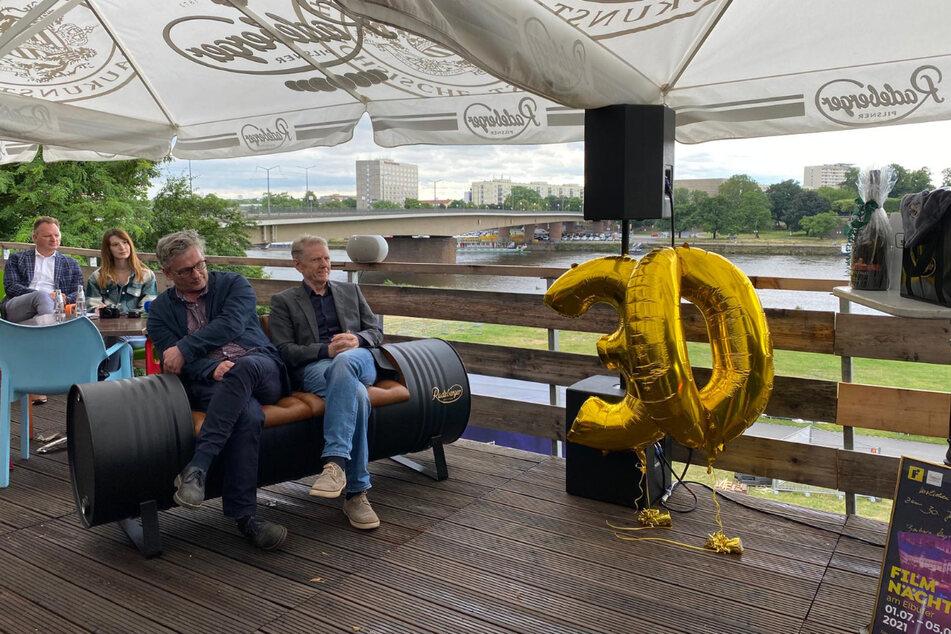 Die Filmnächte-Macher Matthias Pfitzner (l.) und Johannes Vittinghoff bei der Pressekonferenz am Mittwoch.