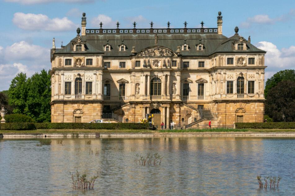 Der Palaisteich mit dem Palais im Großen Garten.