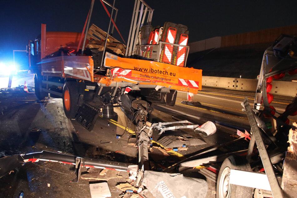 Das getroffene Fahrzeug wurde 43 Meter weit weggeschoben.